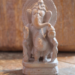 Hand Carved Soapstone Ganesha in Standing Pose <b>SOLD<b>